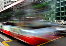 High speed and blurred bus trails Stock Photos