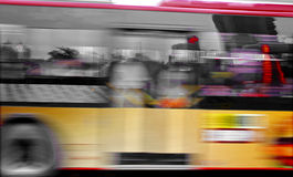 High speed and blurred bus trails Stock Photography