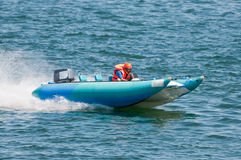 High speed boat Stock Images