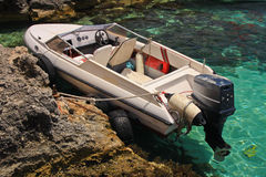 High speed boat. At Blue Lagoon near Malta coastline Stock Images