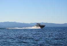 High-speed boat. Lake Tahoe, USA Royalty Free Stock Image
