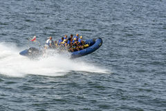 High speed boat ride Royalty Free Stock Photo