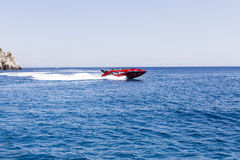 High-speed boat ride Stock Photo