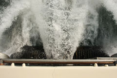 High speed boat water jet Stock Image