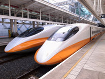 High speed bullet train. By the railway station Royalty Free Stock Photos