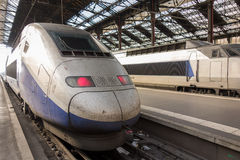 High speed bullet train at the railway station Stock Photography
