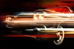 High-speed Burning Car Stock Photography