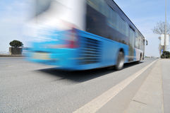 High speed bus Stock Photo