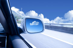 High speed car. Blurred action from car at high speed Royalty Free Stock Photography