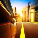 High-speed car Stock Image