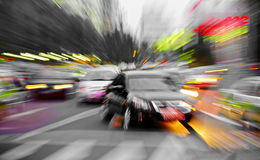 High speed cars radiant rays Stock Image