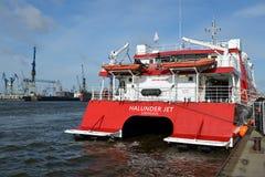 High Speed Catamaran Halunder Jet Royalty Free Stock Photos