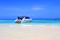 High speed catamaran Royalty Free Stock Image