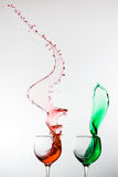 High speed colored cup splash Stock Photo