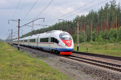 High-speed commuter train. Royalty Free Stock Photo