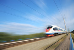High-speed commuter train. Stock Photos