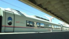 High-speed commuter train stock video