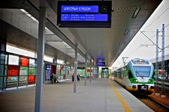 Warszawa Stadion Station in Poland Stock Photography