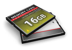 High speed CompactFlash memory cards Royalty Free Stock Image