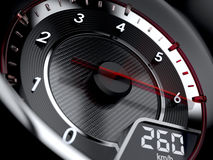 High speed concept. 3d illustration of car tachometer. High speed concept Royalty Free Stock Photo