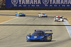 High speed corner turn at Grand AM Rolex Races Stock Photos