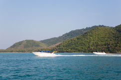 High-speed cruise boats are the islands of Thailand Royalty Free Stock Photo