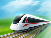 High-speed Day Train Realistic Image Royalty Free Stock Photography