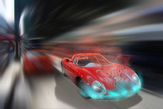 High speed driving Stock Image