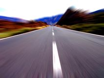 High speed driving !! Stock Photography
