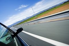 High speed driving Royalty Free Stock Image