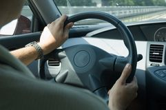 High speed driving (Nissan) Stock Images