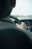 High speed driving (Nissan) Royalty Free Stock Photo