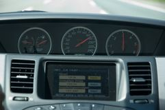 High speed driving (Nissan) Royalty Free Stock Photos