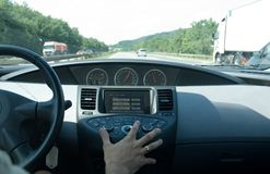 High speed driving (Nissan) Royalty Free Stock Images