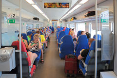 High speed electric express train Lastochka Royalty Free Stock Image
