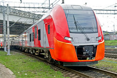 High-speed electric railway train Stock Photos