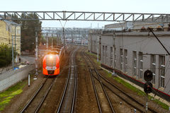 High-speed electric train Lastochka, Russian Railways Royalty Free Stock Images