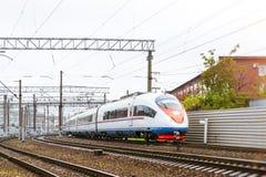 High-speed electric train Sapsan Stock Photos