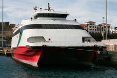 High speed ferryboat Stock Image