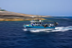 High speed fishing boat Royalty Free Stock Photos