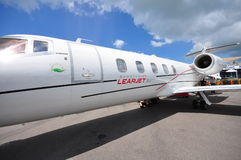 High speed and fuel efficient Bombardier Learjet 60XR executive jet showcased at Singapore Airshow 2012 Stock Photo