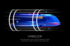 Free High Speed Futuristic Train, Hyperloop, Dynamic Illustration. Future Express Transport Trendy Design Concept Royalty Free Stock Images - 105280049