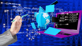 High speed and high technological Internet communicatio. Creation high speed and high technological Internet communications.Globalization Stock Images