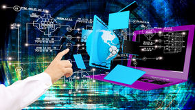 high speed and high technological Internet communicatio Stock Photography