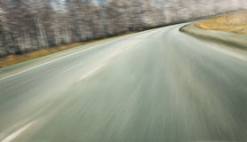 High speed on highway turn Stock Images