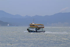 High-speed hydrofoil ferry boat in the harbor of Hong Kong Royalty Free Stock Images