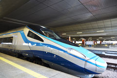 High-speed intercity train on the platform Royalty Free Stock Images