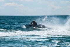 High speed jet ski moving Royalty Free Stock Photo