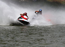 High-speed jet ski2 Royalty Free Stock Photo