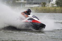 High-speed jetski5 stock image